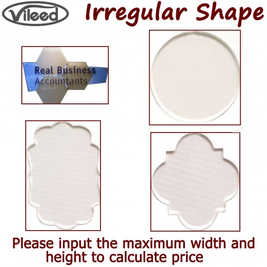 Custom Acrylic Sign Photo Print - Irregular Shape Available