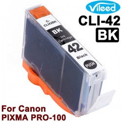 Compatible CLI-42 Print Ink Cartridge for Canon PIXMA PRO-100 Inkjet Printer - 8 Colors BK GY LGY C PC M PM Y