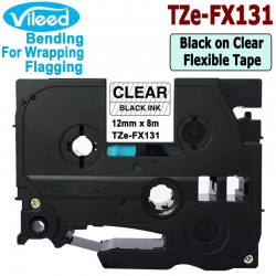 Compatible TZe-FX131 TZe-FX231 TZe-FX631 Flexible ID Cable Wire Tape for Brother P-Touch Label Printer